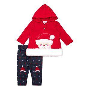 NWT Nannette Baby Red Santa Hooded Set, 6-9M